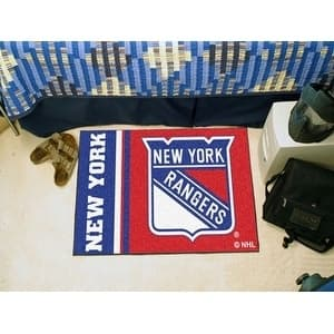 "New York Rangers Uniform Starter Rug 19""x30"""