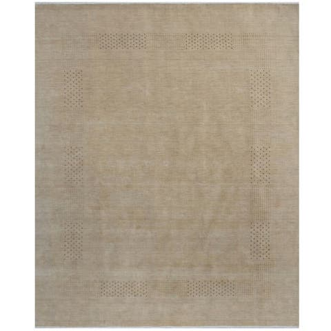 Handmade Gabbeh Wool Rug (India) - 8' x 10'