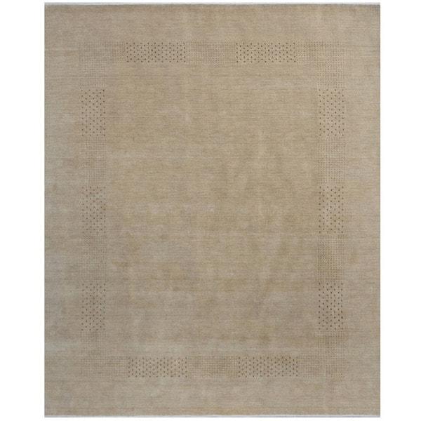 Handmade Gabbeh Wool Rug (India) - 8' x 10'. Opens flyout.