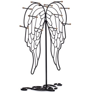 Ikee Design Metal Black Jewelry Display Stand Hanger Organizer