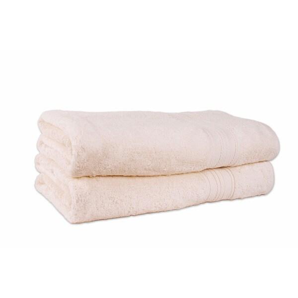 Ecru Classique 38x68-inch Oversized Bathsheet (set of 2)