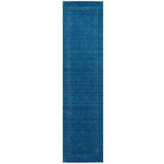 Herat Oriental Indo Hand-loom Gabbeh Wool Runner (2'6 x 10')