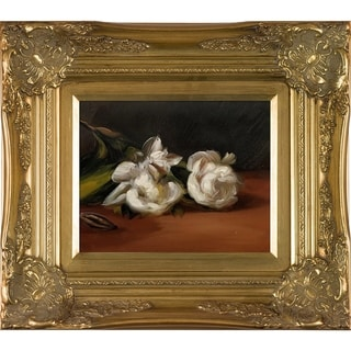 Link to Edouard Manet 'Branch Of White Peonies With Pruning Shears' Hand Painted Framed Oil Reproduction on Canvas Similar Items in Canvas Art