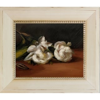 Edouard Manet 'Branch Of White Peonies With Pruning Shears' Hand Painted Framed Oil Reproduction on Canvas