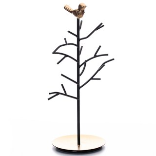Link to Black Metal Jewelry Branches Stand Rack with A Bird Decoration Similar Items in Jewelry Boxes