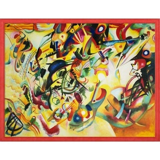Wassily Kandinsky 'Composition VII' Hand Painted Framed Oil Reproduction on Canvas