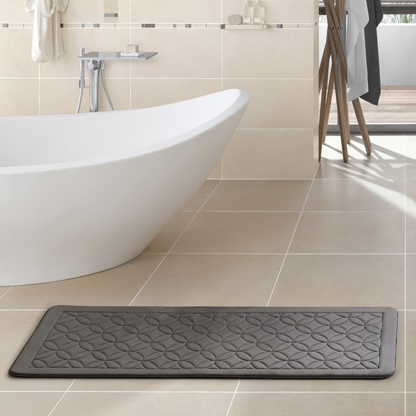 VCNY Home Chanel X Memory Foam Bath Runner X Free - Bathroom rug runner 24x60 for bathroom decor ideas