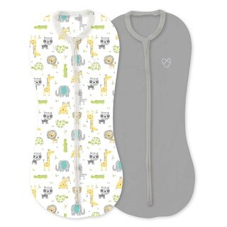 Summer Infan Safari Excursiont Newborn SwaddleMe Pod Cotton Spandex Blend (Pack of 2)