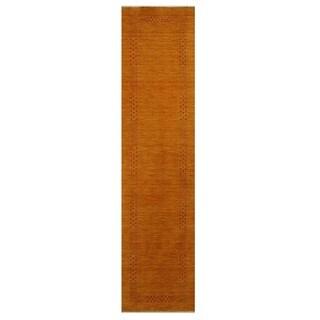 Handmade Herat Oriental Indo Gabbeh Wool Runner (India) - 2'6 x 10'