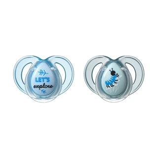 Tommee Tippee Lets Explore/Caterpillar Everyday Pacifier 6-18 Months (Pack of 2)
