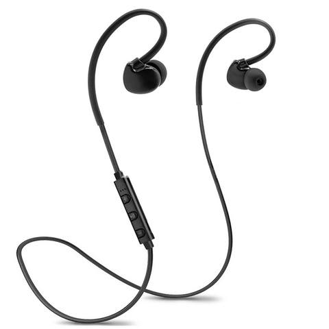 Brass-heavy Bluetooth V4.1 Sports Headphone in-ear Stereo Ear Buds Built-in Mic Hands-free Calling 4 Hours Playing Time