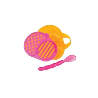 Sassy First Solids Orange Feeding Bowl with Spoon