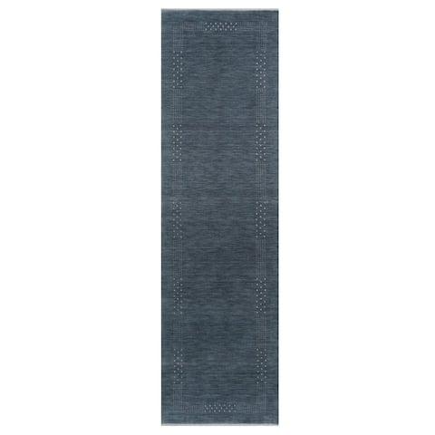 Handmade Gabbeh Wool Runner (India) - 2'6 x 10'