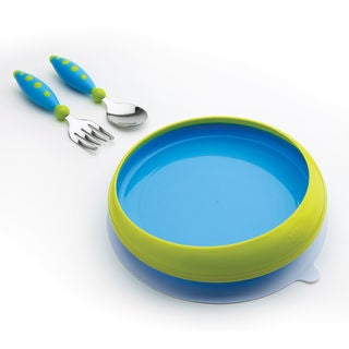 NUK Gerber Graduates Blue Lil' Trainer Tableware Set