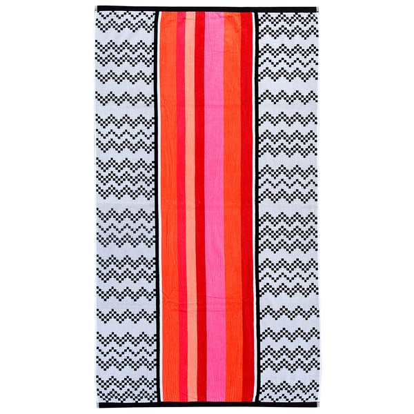 Chevron 40-inch x 70-inch Velour Beach Towel