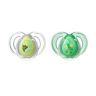 Tommee Tippee Be Free/Dragonfly Everyday Pacifier 6-18 Months (Pack of 2)