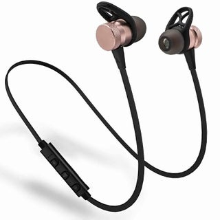 Bass-heavy and Magnet Bluetooth V4.1 Sports Headphone in-ear Stereo Ear Buds (Option: Pink)