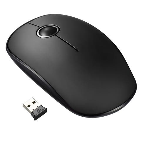 cdabfab9ba3 2.4G Wireless Mouse with Nano Receiver, Noiseless and Silent Click with  1600 DPI for