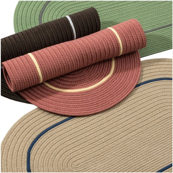 Ash Isle Indoor/Outdoor Braided Reversible Rug USA MADE - 8' x 10'