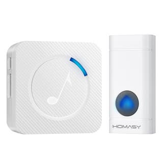 Wireless Doorbell with 1 Push Button Waterproof Transmitter and 1 Plug-in Receiver Operating at 600-feet Range|https://ak1.ostkcdn.com/images/products/16394526/P22744695.jpg?impolicy=medium