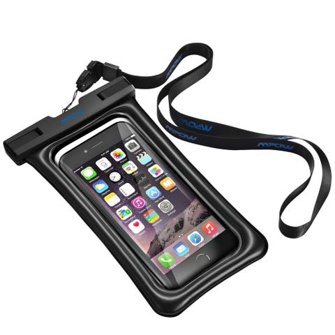 Mpow Floatable Waterproof Case, Dry Bag Cellphone Pouch for iPhone 7/ 7 Plus, Google Pixel, LG G6, Huawei P9/ P9 Plus, Galaxy S8