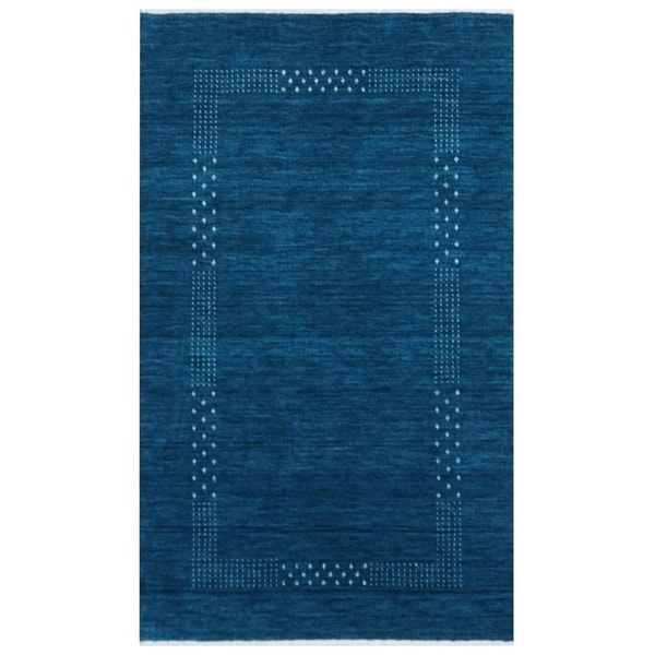 Handmade Gabbeh Wool Rug (India) - 3' x 5'. Opens flyout.