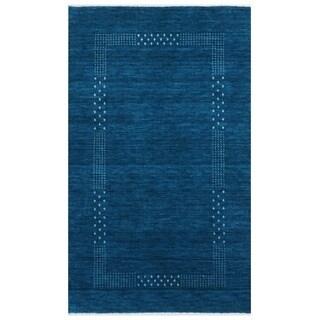 Handmade Herat Oriental Indo Gabbeh Wool Rug (India) - 3' x 5'