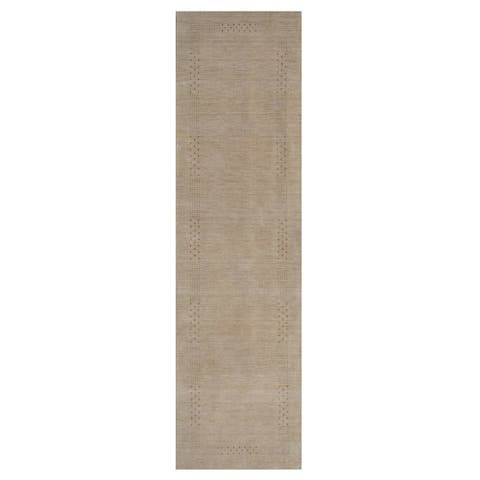 Handmade Gabbeh Wool Runner (India) - 2'6 x 10'