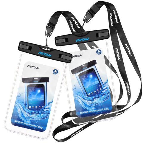 Mpow Waterproof Case, Cellphone Dry Bag with Detachable Lanyard for iPhone 7/ 7 Plus, Google Pixel, HTC, LG, Sony, Nokia