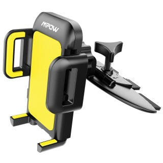 Mpow CD Slot Car Mount, Universal Smartphone Holder for iPhone 7/7plus,Nexus 5X/6/6P, Huawei and More (Option: Yellow)