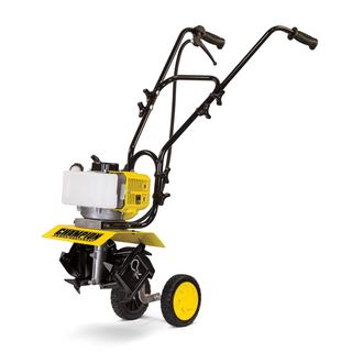 Champion 43cc 2-Stroke Portable Gas Garden Tiller Cultivator with Adjustable Depth