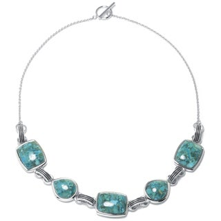 Sterling Silver Enhanced Turquoise Necklace