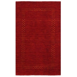 Link to Handmade Gabbeh Wool Rug (India) - 3' x 5' Similar Items in Rustic Rugs