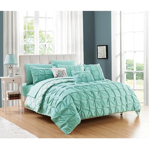 Chic Home Yabin 10-piece Reversible Aqua Complete Bed in a Bag Comforter Set