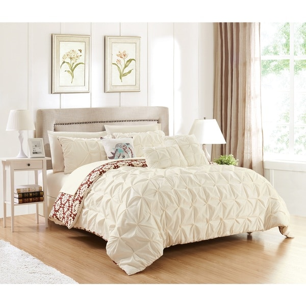 Chic Home Yabin 10-piece Reversible Beige Complete Bed in a Bag Comforter Set