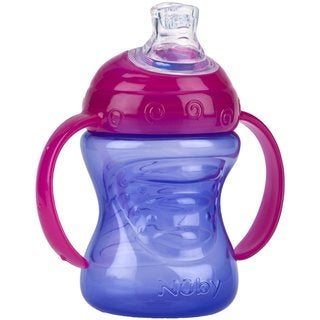 Nuby Purple/Pink 8-ounce 2-Handle Cup with No-Spill Super Spout