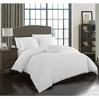 Chic Home Devon 4-Piece White 100-percent Cotton Duvet Cover Set