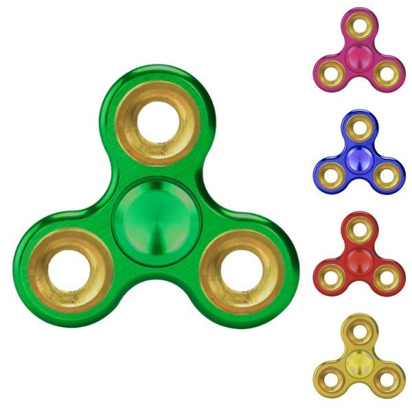 Chrome EDC Fidget Spinner Toy Tri Hand Spinner- Stress & Anxiety Relief