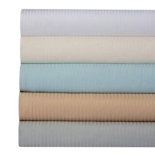 400 Thread Count 100% Cotton Dobby Damask Stripe 4-Piece Sheet Set