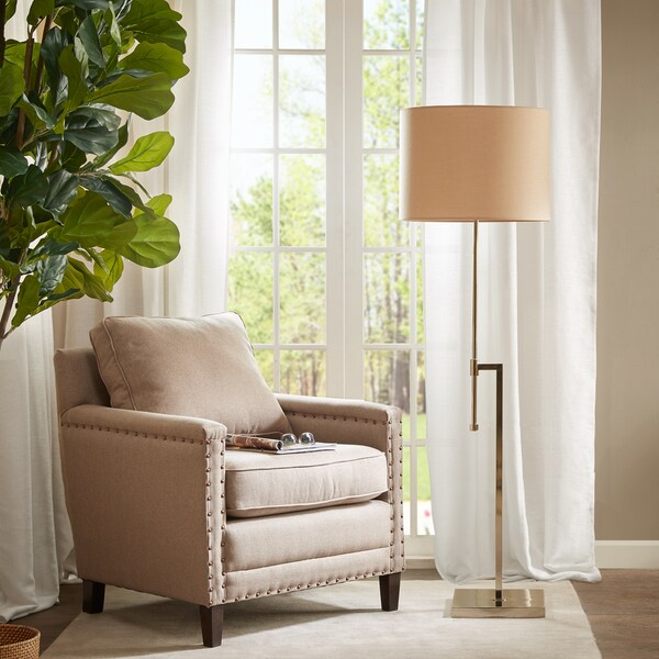 Park Madison Lighting Floor Lamp: Shop Madison Park Sutton Silver Floor Lamp