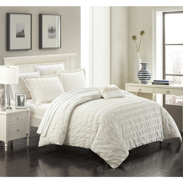 Chic Home Tornio 4-piece Cotton Beige Duvet Cover Set. Opens flyout.