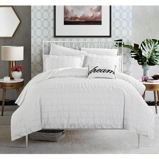 Chic Home Tornio 4-piece 100% Cotton White Duvet Cover Set