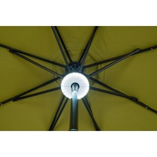 Trademark Innovations White Plastic Wireless 24 LED Adjustable Patio Umbrella Light