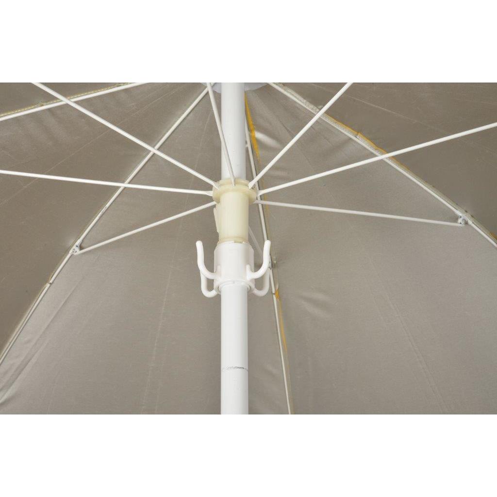 Trademark Innovations White Plastic Beach Umbrella Hangin...