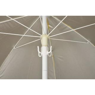 Trademark Innovations White Plastic Beach Umbrella Hanging Hook for Towels and Bags