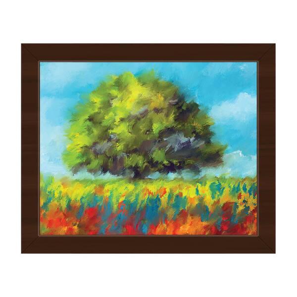 Color Brush Fields Framed Canvas Wall Art Print