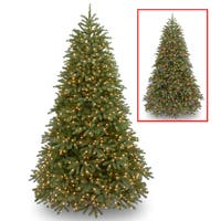 National Tree Company 9-foot Jersey Fraser Fir Medium Tree with Dual Color LED Lights