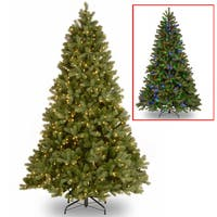 National Tree Company 6.5-foot Downswept Douglas Fir Tree with Dual Color LED Lights