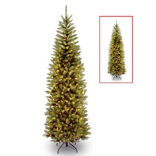 7 ft. PowerConnect(TM) Kingswood Fir Pencil Tree with Dual Color® LED Lights