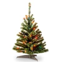 National Tree Company 3-foot Kincaid Spruce Tree with Multicolor Lights